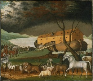 The tale of Noah's Ark may hold a sliver of truth and could have been inspired by a real flood. (painting by Edward Hicks, via Wikimedia Commons)